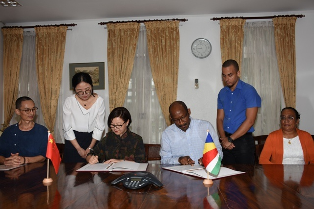 China giving Seychelles $22 million in project support, including new technical-vocational school
