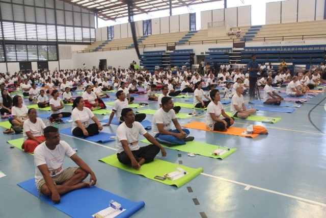 Seychelles embraces lotus pose and downward dog on International Day of Yoga