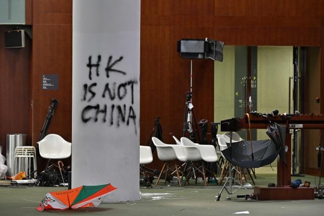 China and Britain wage war of words over Hong Kong