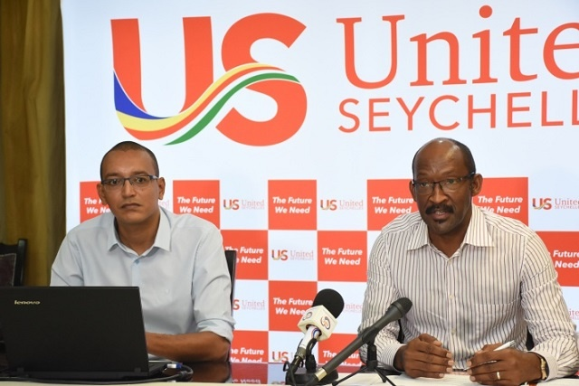 President Danny Faure tells his United Seychelles political party he will run in 2020