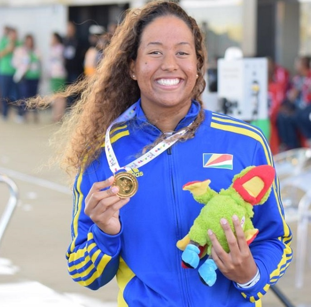 Seychellois swimmer wins 7 golds in Indian Ocean Islands Games, surpassing previous swimming best