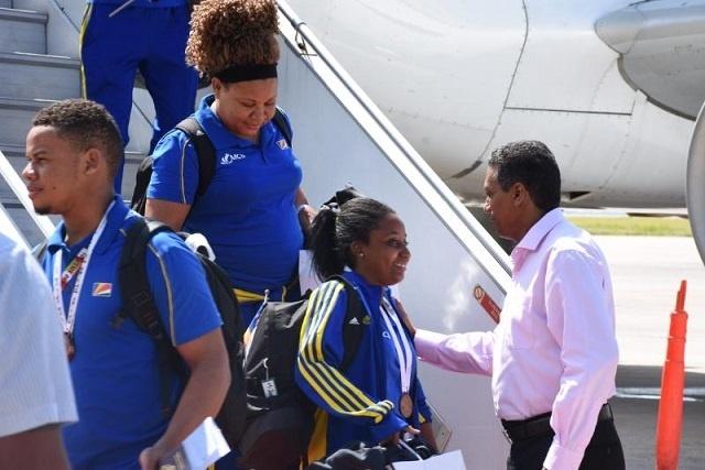 Les athlètes seychellois accueillis avec beaucoup d'éloges après la clôture des Jeux des îles de l'océan Indien