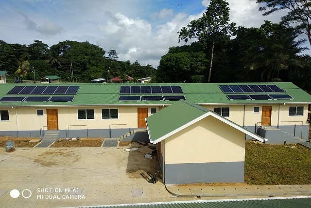 First of planned 700 houses are fitted with solar cells in government estate in Seychelles