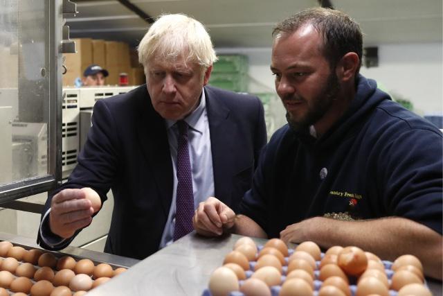 Boris Johnson visits N.Ireland, heart of Brexit battle