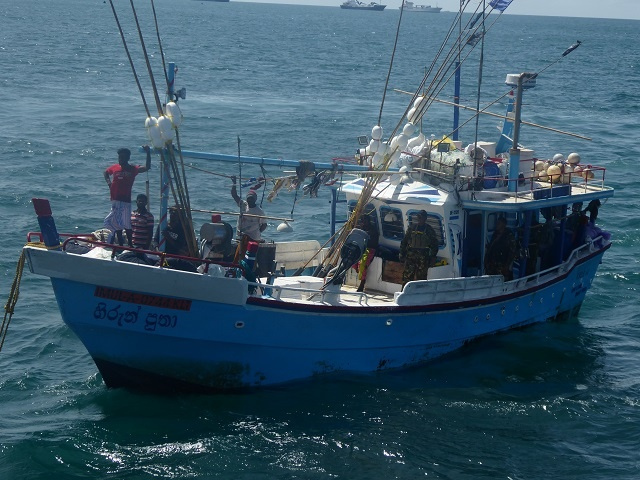 7 Sri Lankans are detained in Seychelles on suspicion of illegal fishing