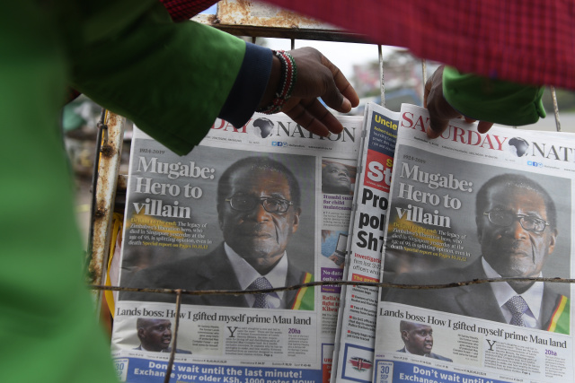 Zimbabweans cold-shoulder Mugabe national mourning