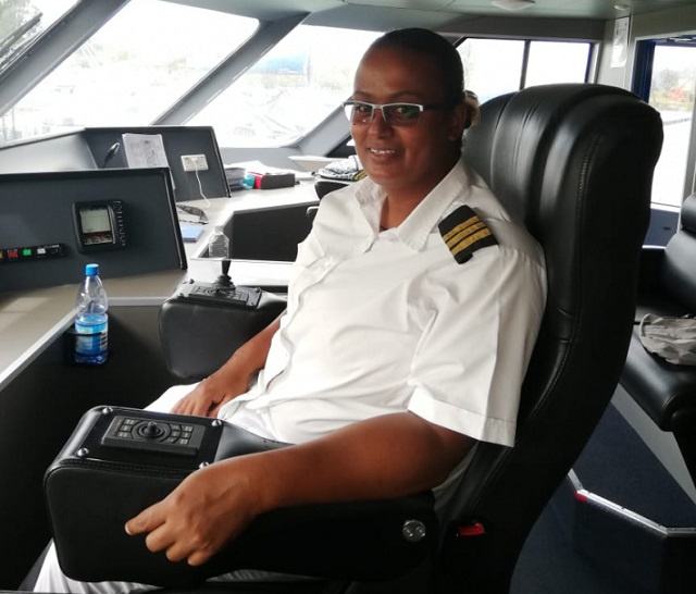 First in Seychelles: Female ship officer sets sights on making captain