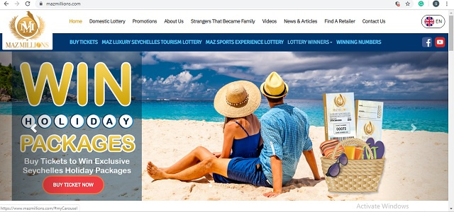 Seychellois lottery offers the chance to win island vacations, Premier League sports matches as prizes
