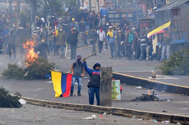 Ecuador protesters break into Congress