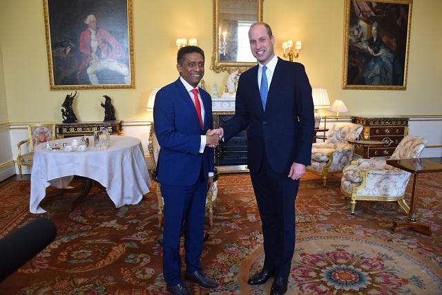 Le prince William et le président des Seychelles discutent sur la gouvernance des océans de la nation insulaire