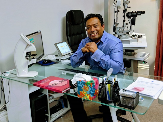Seychellois eye specialist nominated as one of field's best in UK