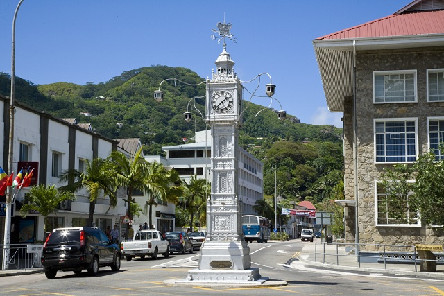 Seychelles' landmark clock tower is keeping time again after repair job