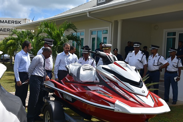 UAE's gift of 4 jet skis intended to help Seychelles fight drug trade at sea