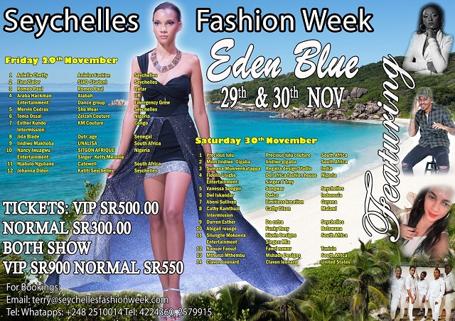 7 designers soon heading to Seychelles from countries around the world