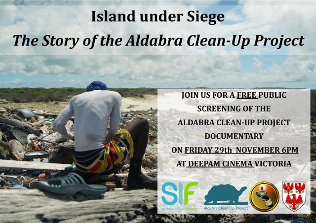 Free screening of massive Aldabra clean-up project taking place Friday in Seychelles' capital