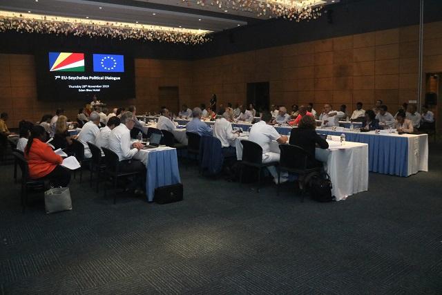 Les Seychelles et l'UE discutent de partenariats et échangent leurs points de vue lors du dialogue annuel