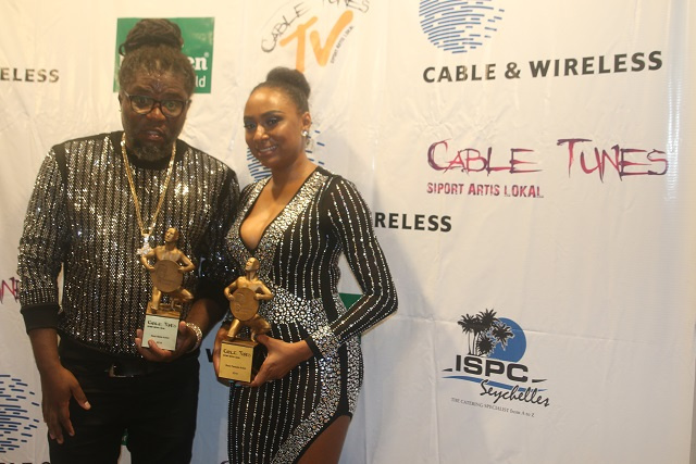 Mia, Elijah named Seychelles' best artists at Cable Tunes Awards