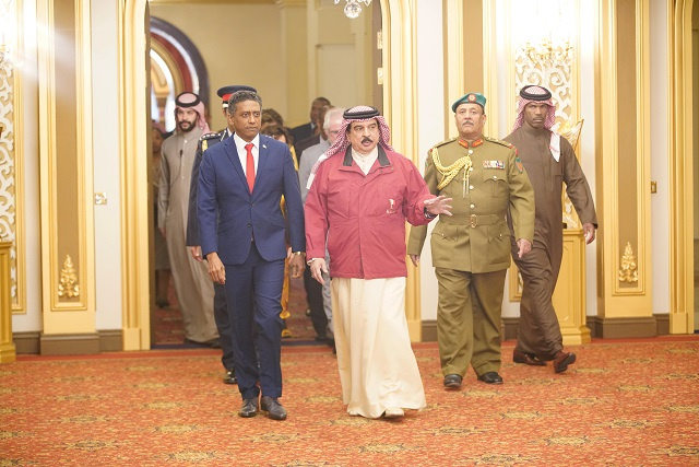 President of Seychelles makes first-ever state visit to Bahrain