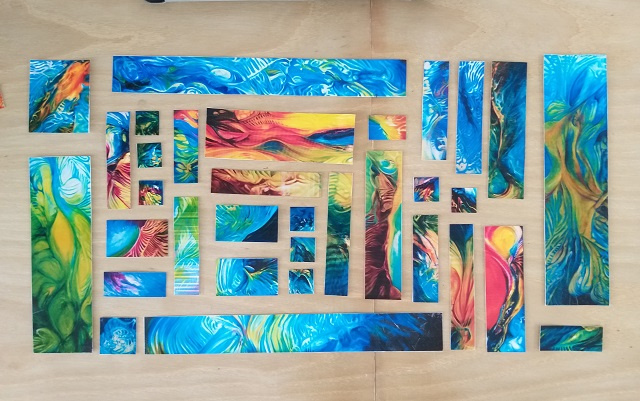 An artist's exhibition in Seychelles stitches 33 pieces together at Eden Art Space Gallery
