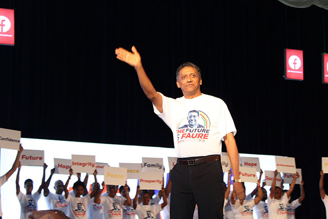 President of Seychelles launches election bid, saying he will 'build and preserve future'