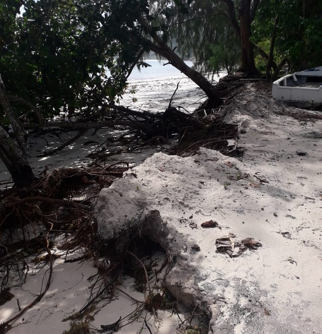 Severe coastal erosion due to climate change forcing Seychelles to fight back against higher seas