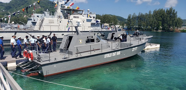 2 new patrol crafts from Sri Lanka officially join Seychelles' fleet