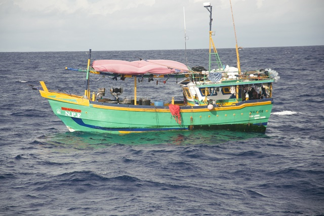 Sri Lankan-flagged boat intercepted in Seychelles' waters for illegal fishing