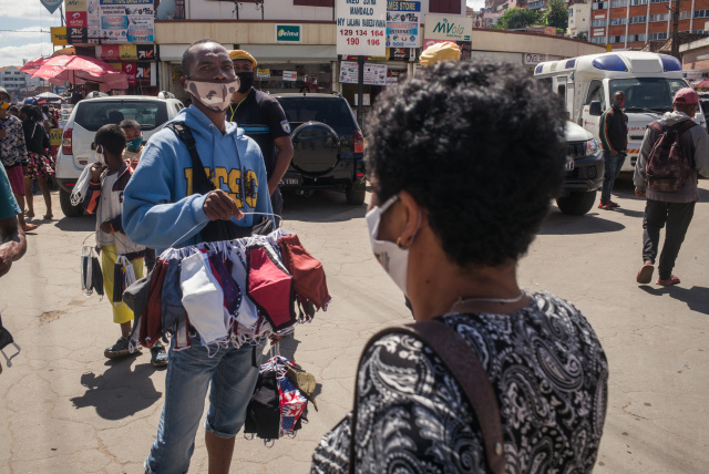 People caught without masks forced to sweep streets in Madagascar