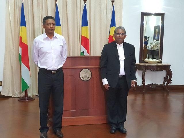 Fernando sworn in as president of Seychelles Supreme Court