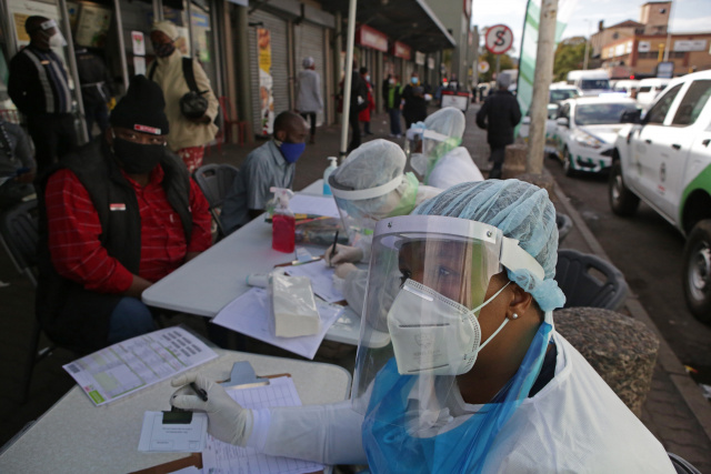 South Africa's virus cases jump by 10,000 in five days