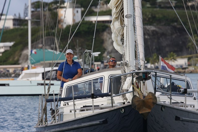 Dutch couple sailing the world stop in Seychelles after 102 days in isolation at sea