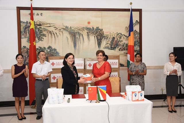 Chinese Embassy donates masks, thermometers for women, children in Seychelles