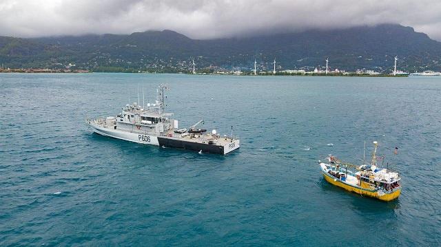 7 tonnes of shark found aboard Sri Lankan boat apprehended in Seychelles' waters