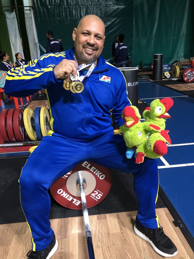 18-time gold medalist Steven Baccus, a top Seychellois athlete, retires from weightifting