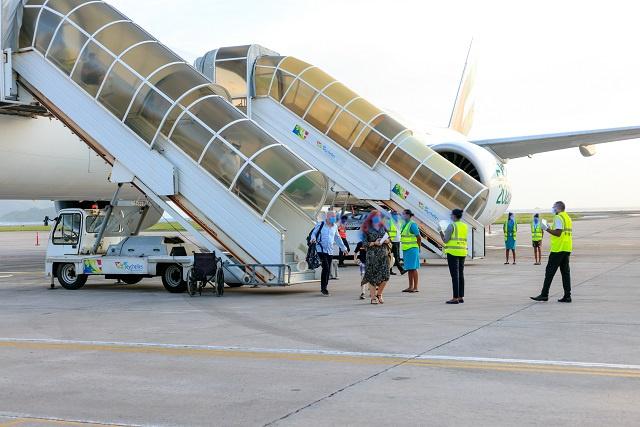 2 000 visiteurs aux Seychelles depuis la réouverture de l'aéroport; 31 millions de dollars ajoutés à l'économie