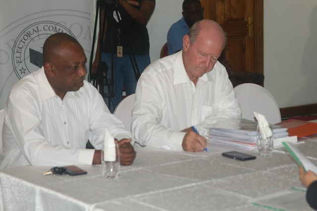One Seychelles leader St Ange submits nomination documents for October presidential election