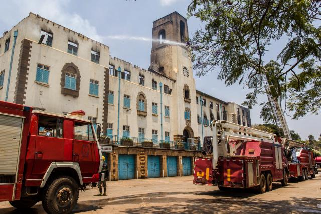 Fire ravages Uganda's top university