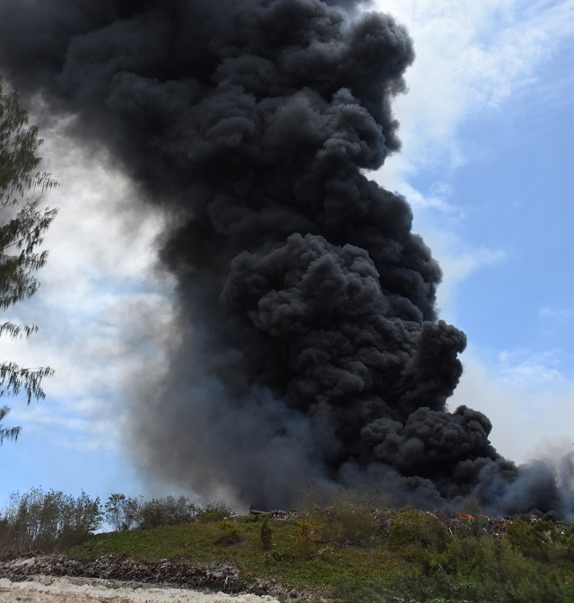 Landfill fire's toxic fumes force the closure of 8 schools and industrial estate on Seychelles' main island