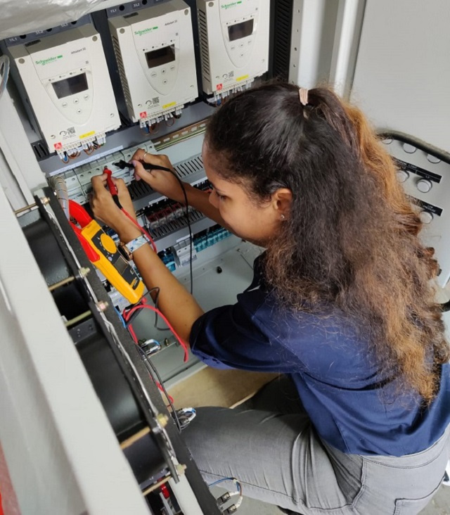 Seychelles' Public Utilities Company now has its first Seychellois female electrical engineer