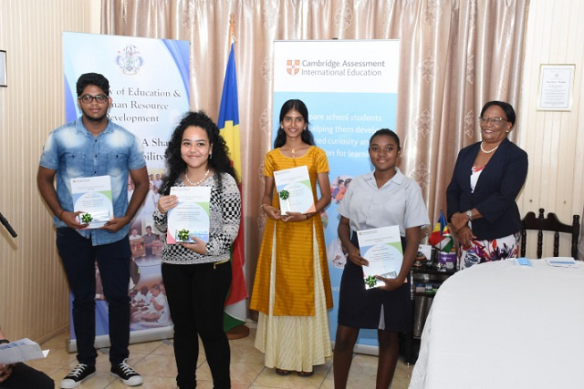 5 Seychellois students recognised as top performers for IGCSE and A-level examinations