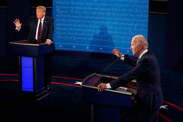 USA: micros coupés pendant le débat Trump/Biden pour éviter la cacophonie