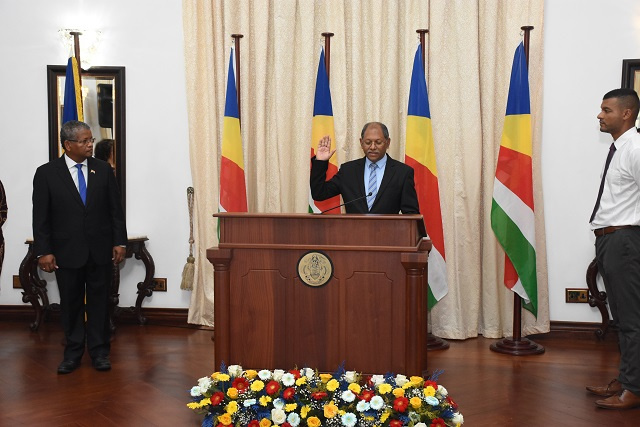 Vice President Afif sworn in, pledges to help new president's vision of reform