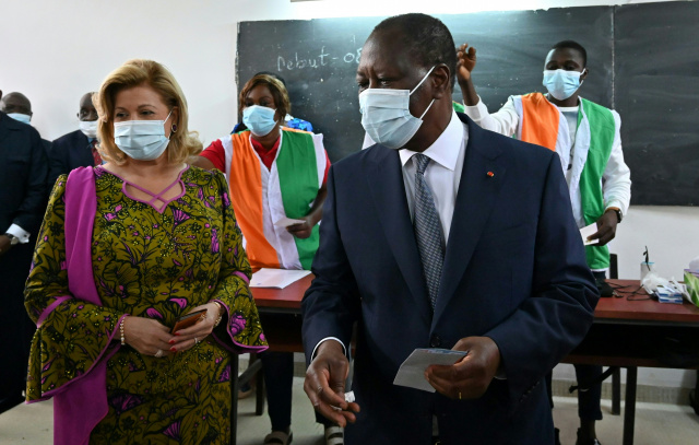 Ivory Coast president reelected to contested third term