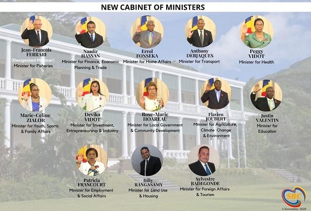La majorité du nouveau conseil des ministres des Seychelles a prêté serment