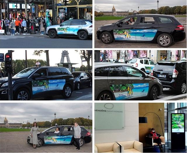 Les Seychelles tentent d'attirer les Parisiens vers les Seychelles ensoleillées avec une campagne sur les taxis