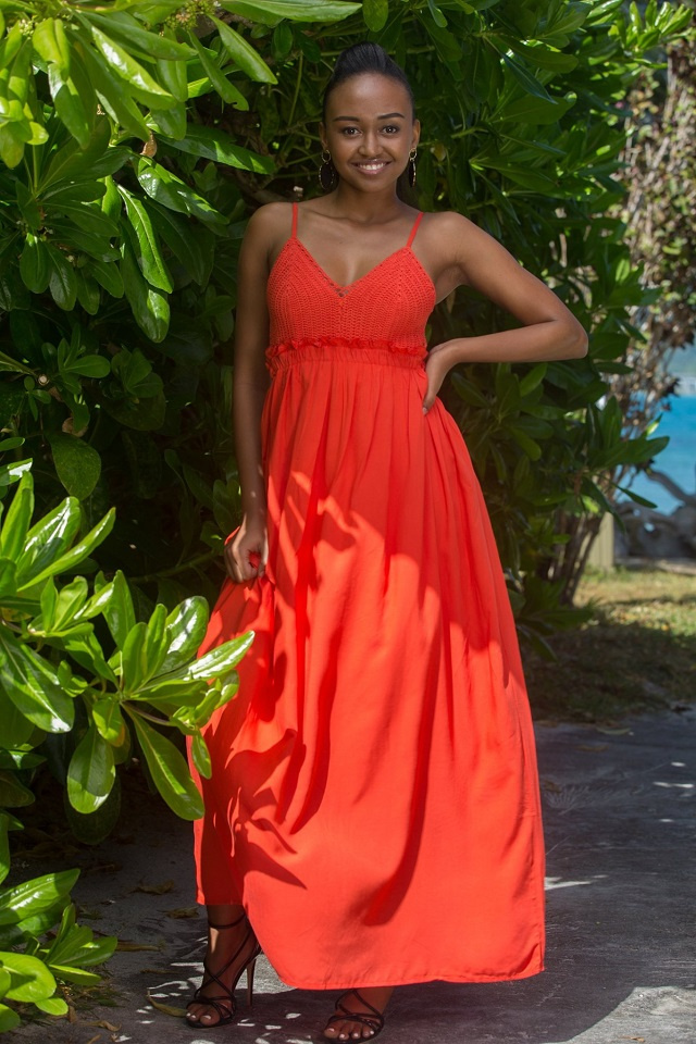 The youngest Miss Seychelles candidate is a budding author ready to blossom