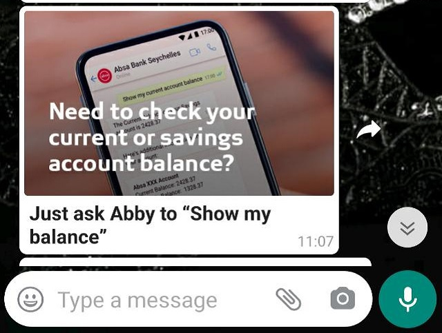 Absa Bank Seychelles launches digital assistant on the WhatsApp platform