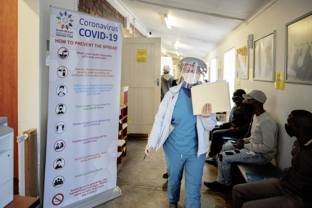 South Africa hopes to begin virus vaccinations next month