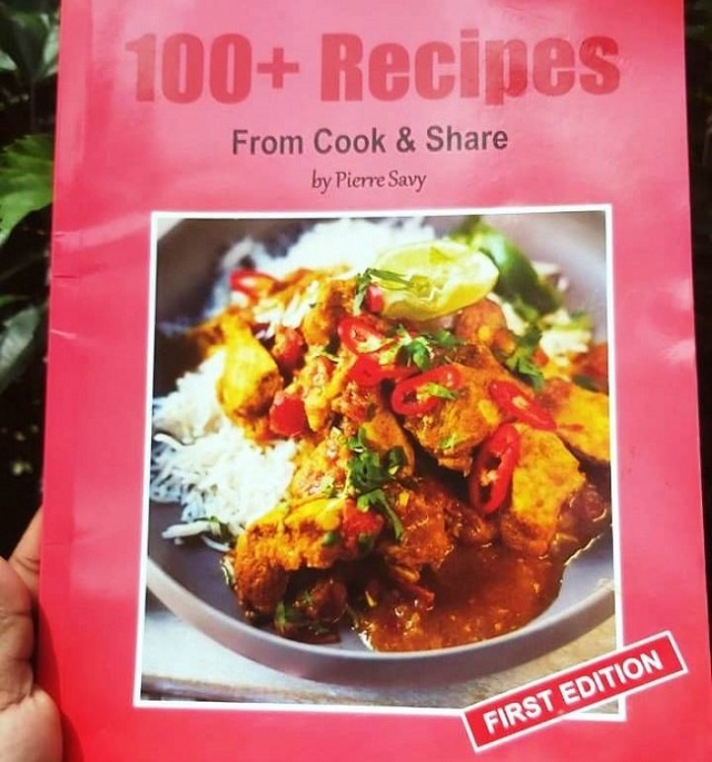 Cook & Share recipe book is a mixture of food cultures from a Seychellois in Switzerland