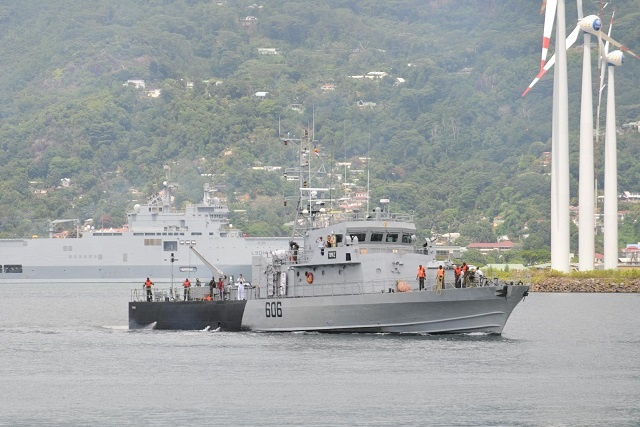 Seychelles expects to receive new, fast patrol boat from Indian gov't next month